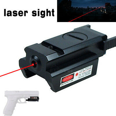 Tactical Mini Red Dot Laser Sight with 21mm Picatinny Weaver Rail Mount