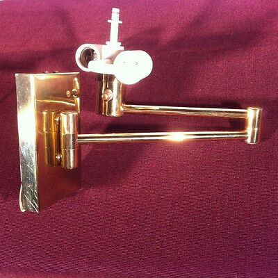 Pair of NESSEN LAMPS Swing Arm Sconces - brass finish