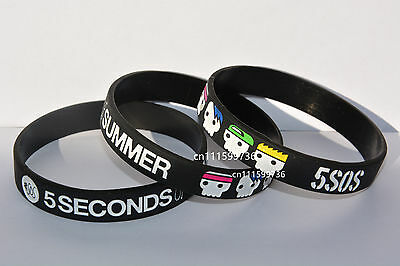 5 SECONDS OF SUMMER 5SOS Silicone Wristband with Cute Portrait