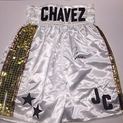 Julio Cesar Chavez Autographed Boxing Trunks with Fight Plaza COA