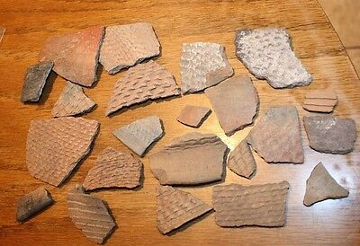 Mimbres Indian Pottery shards (408)