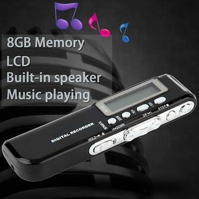 PRO 8GB 650Hr USB LCD Digital Audio Voice Recorder Dictaphone MP3 Player 2017 TR