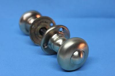"Vintage Antique Solid Brass Door Knobs Sets - Knobs 1 3/4"" Diameter"