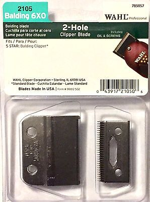 Wahl Professional Blades 6 X 0 5 Star Balding Clippers # 2105 Upc , 043917210506