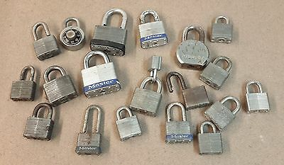 Lot of (18) Vintage Master Brand Padlocks