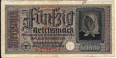 Nazi Germany banknote with swastika for conquered Ukraine, Russia, Poland PR140