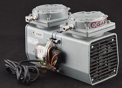 Gast DAA-V111-EB 1/2HP 60psi 3.2 cfm Lab Two-Stage Oilless Diaphragm Vacuum Pump