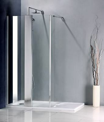 1400x900mm Thermostatic Control Walk In Shower Enclosure Glass Screen+Stone Tray