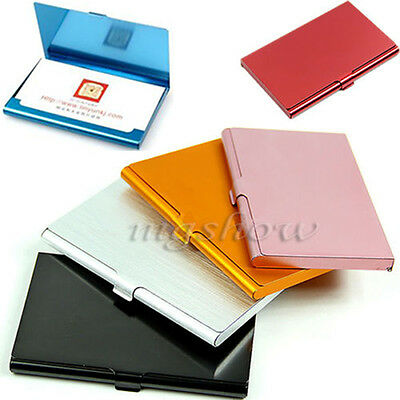 Business Name Credit ID Card Holder Metal Fine Box Case Stainless Steel Pocket