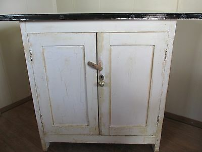Vintage shabby chic Kitchen cabinet-Enamel top rustic farmhouse,