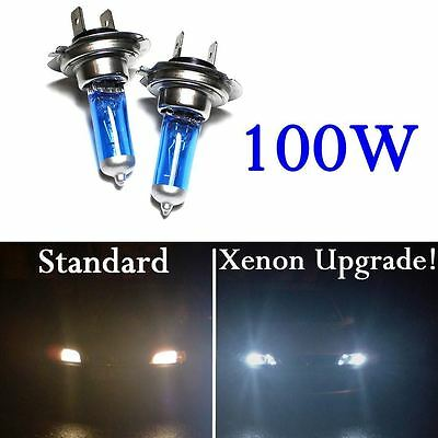 H7 Xenon 100W Cool White Bulbs Dipped Beam 12V Headlight Headlamp HID Car Light