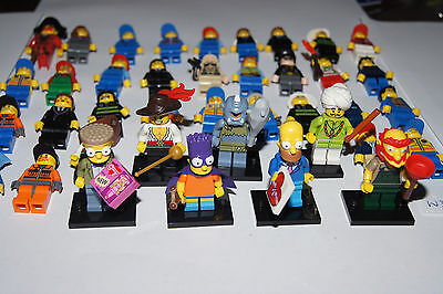 Genuine BULK Lego - 40 Minifigures / Minifigs with hats - including series (W32)