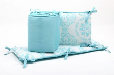 The Peanut Shell Medallion Cot Bumper (Teal)