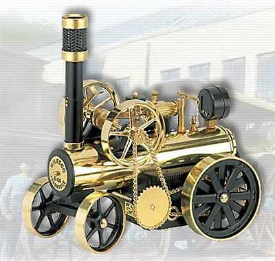 AU SPECIAL: Wilesco D430 Steam Locomobile Black Brass SEE VIDEO NEW FREE POSTAGE