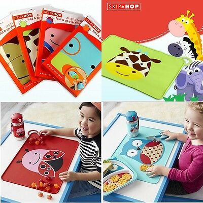 Baby Child Little Kid Toddler Fold & Go Non-Slip Food-Grade Silicone Placemat 0+