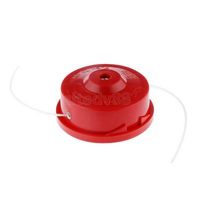 Red Universal Round 2 Line Bump Feed Strimmer Trimmer Brush Cutter Head