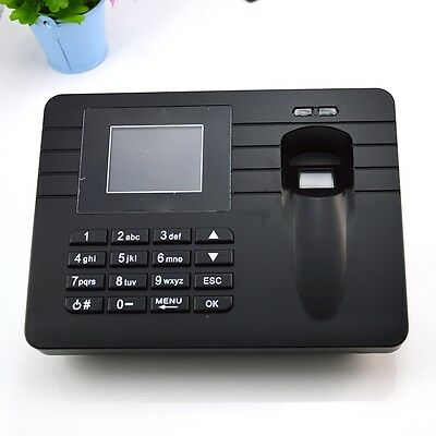 "2.4""TFT Fingerprint Attendance USB System Time Clock Machine Time Recorder A5 GK"