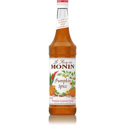 Monin Premium Pumpkin Spice Coffee Syrup 1 Litre - Big Bottle