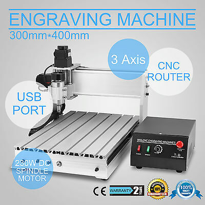 Usb Cnc Router Engraver Engraving Cutter 3 Axis 3040T 300X400Mm Arts T-Screw