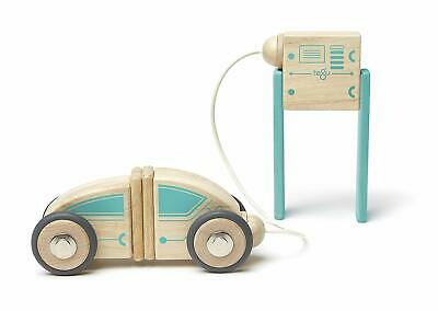 Tegu Future Circuit Racer Wooden Magnetic Creative Building Blocks Toys Play