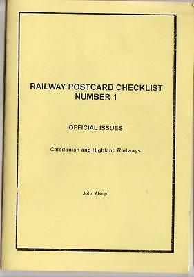Caledonian and Highland Railways Official Postcard Checklist - Alsop No.1