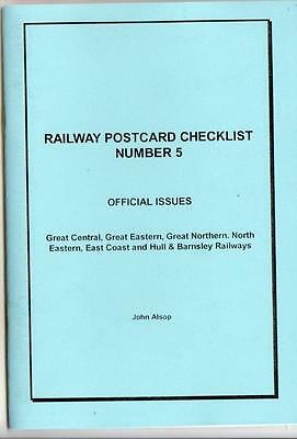 GC, GE, GN, NE, EC & HB Railways Official PC Checklist - Alsop No.5