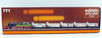 Marklin Z Gauge 8145 Prussian Beer Train Loco And Wagons Set (10Y)