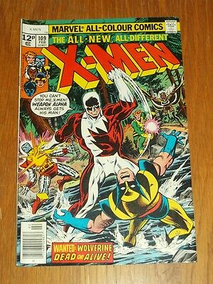 X-Men #109 Vg+ (4.5) Marvel Comics February 1978