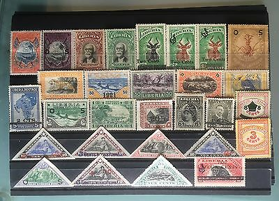 LIBERIA: Early Classic Stamps Collection Mint #1417