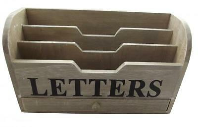 Gisela Graham Chic Distressed Letter Rack - Shabby Rustic Style gift Ideal