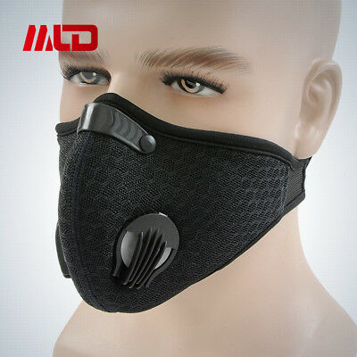 Honeycomb Mesh Cloth Breathable Cycling Anti Dust Haze Half Face Mask Filter