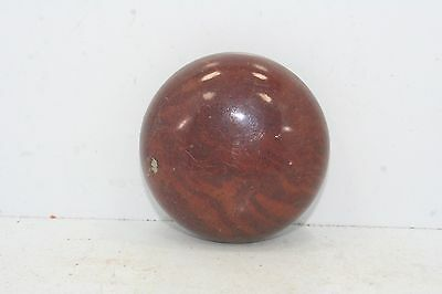 "Vintage Light Brown Ceramic / Porcelain Door Knob - 2 1/4"" Diameter - Swirl"