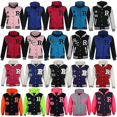 Kids Girls Boys R Baseball Bomber Style Jacket Fox 61 Orlando Fsbl Hoodie 2-13 Y
