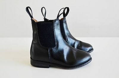 Loveson Malvern Kids Riding Boots, Size 10A, Black Leather