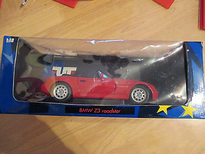 UT Models 1:18 Scale BMW Z3 Roadster, Red. Mint. Boxed.