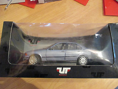 UT Models 1:18 Scale BMW 3-Series Saloon 1992 Silver/Grey. Mint. Boxed.