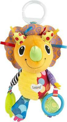 Lamaze LC27575 Crinkle Feet Scaly Patterns & Paws Polka Dot Horns Daisy Dino Toy