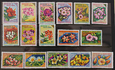 Upper Volta 1963 Flowers Set  MNH SG117-132