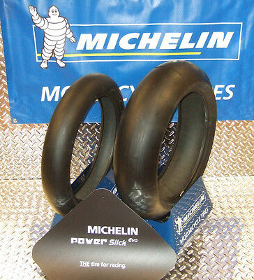 Michelin Power Slick EVO Motorcycle Track Day Race Tire 120/70-17 190/55-17 PAIR