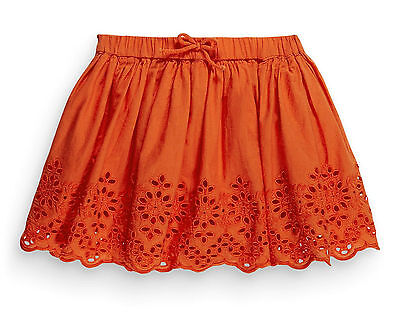 ВNWT NEXT Girl Party Dress • Orange Embroidered Skirt • 100% cotton • 2-3 Years