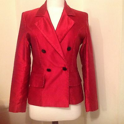 Yves Saint Laurent Vintage Sheen Shine Red Jacket Perfect For Christmas