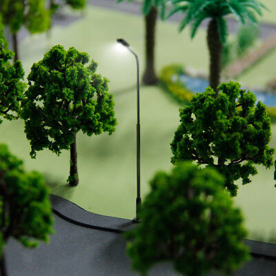 Pack of 10pcs Lamp Lights Model Single Head for Train Street Layout Scenery