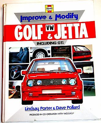 IMPROVE & MODIFY VW GOLF & JETTA incl GTi - HAYNES BOOK - PAGES MINT with VAG UK