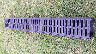 ACO Hexdrain Channel With Black Plastic Grating 1M Part # 319310