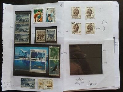 Australia / AAT Large MH / MNH / Used Collection 21 Pages CV £1500+