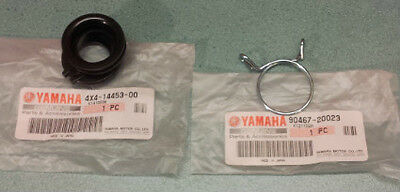 Genuine Yamaha Carburetor Intake To Airbox Rubber And Clip 4X4-14453-00 Etc
