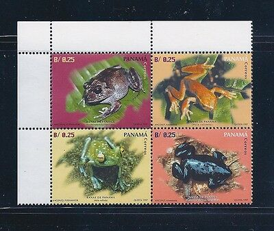 Panama Stamps - Frogs Block 1997 #849 - Mnh Og