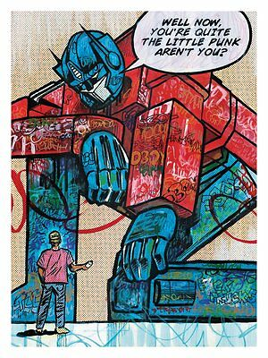 Dillon Boy Rare The Transpotter Print From 2014 Transformers
