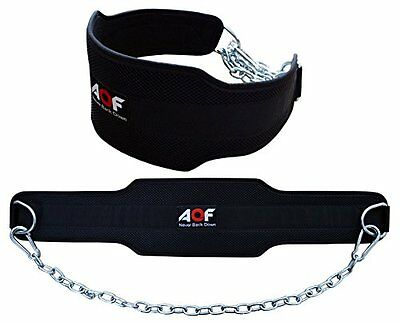 AQF Dipping Belt body building weight Dip Lifting Chain Neoprene