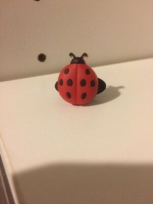 Red Ladybug Shoe Charm For Crocs Or Veggies By Shoe Doodles